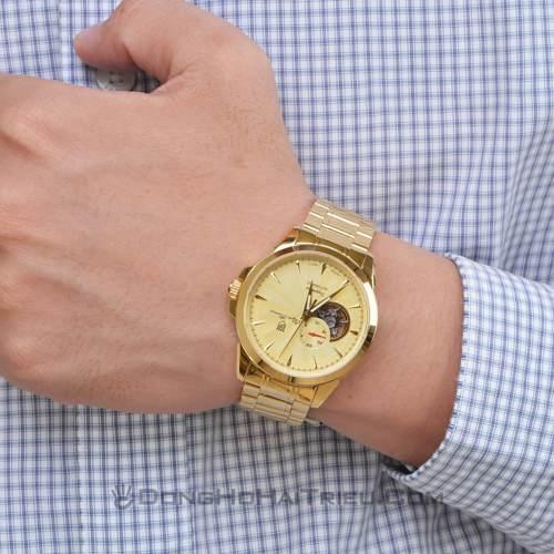mẫu đồng hồ nam cao cấp mạ vàng 1