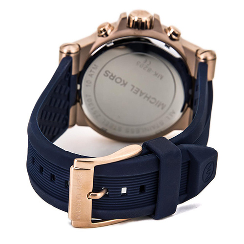 3 Đồng Hồ Michael Kors Watch Men's Chronograph Navy Silicone Strap 48mm MK8295